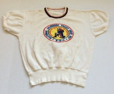 Vtg Boy Scouts National Jamboree Valley Forge 1957 Terrycloth Shirt