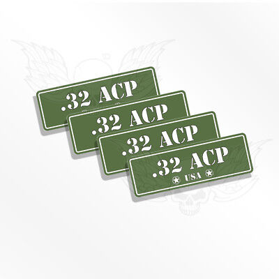 AMMO CAN DECALS 380 ACP - 4 Ammo Can Stickers  380 Auto Colt