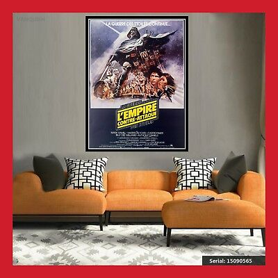 Toile Affiche Cinema Movie Sortie Film Poster Star Wars L'empire Contre Attaque