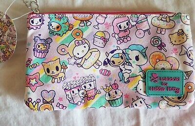 """NWT Tokidoki x Hello Kitty Canvas Pouch """"2017 Sweets Collection"""" HTF #1"""