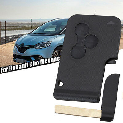 Replacement fits Renault Megane Scenic 3 button Key Card Shell/Case &Blank Blade