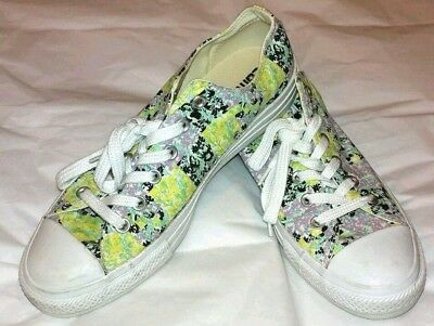 Converse All Star Shoes Womens Size 10 Floral Checks Multicolor green  yellow New 363a78aaf