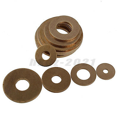 M2 M2.5 M3 M4 Solid Brass Flat Washers Plain Washer To Fit Metric Bolts Screws