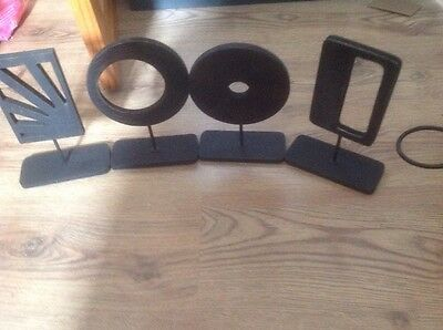 Joblot Of Modern Wooden Art Sculptures (45 Pieces)