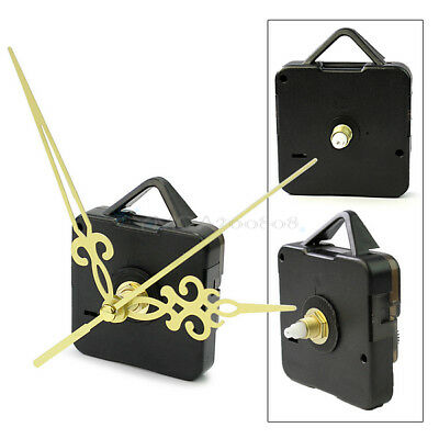 Hot Quartz Wall Clock Movement Mechanism DIY Repair Parts Kit Replace Gold Hands