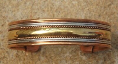 Unisex copper magnetic bangle bracelet healing pain relief therapy from India