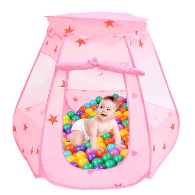 Kid Pop Up Wizard Princess Castle Playing Tent Indoor Outdoor Playhouse Fun Toy
