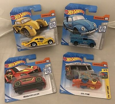 Hotwheels Volkswagen Golf GTI Kool Kombi Beetle Pick Up Kafer NEW Job lot X4