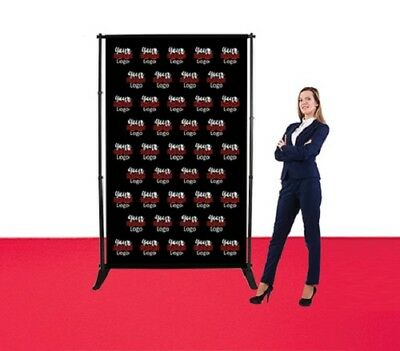 5'X8' Step Repeat Adjustable Fabric Banner Stand One Sided Photography Backdrop