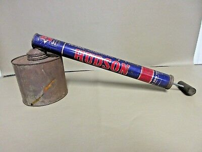 Vintage Hudson Pesticide Insecticide Bug Sprayer-OLD Tin Farm Garden