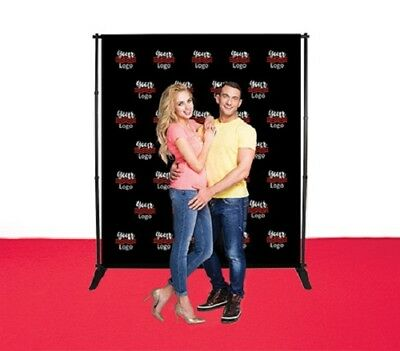 6'X8' Adjustable Step&Repeat Telescopic Banner Stand Double Side Fabric Backdrop