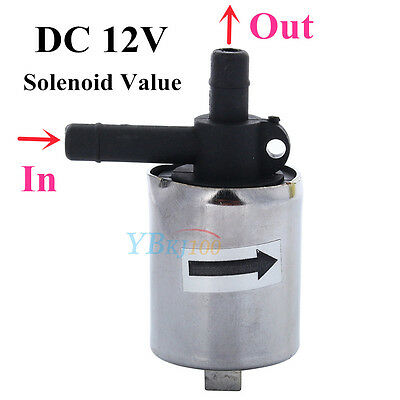 6mm DC 12V Small Mini Plastic Solenoid Valve fr Water Gas Air Normally Closed MB