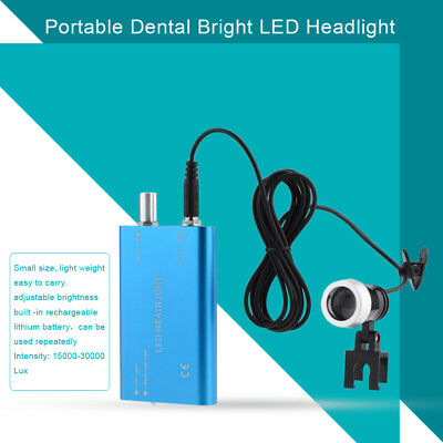 Dental LED Head Light Lamp headlight for Surgical Loupes Glasses Loupes Blue