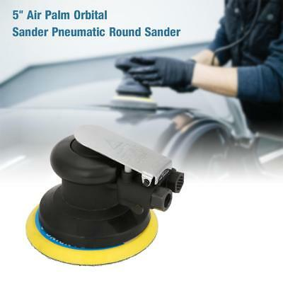 "Car Body 5"" Round Air Random Orbital Sander Pneumatic Polisher Sanding Tool Kit"