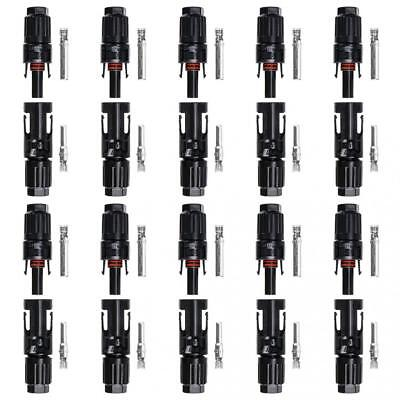 BTSKY® 10 Pairs of HC4-PV10C MC4 Male/Female Solar Panel cable Connectors