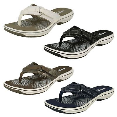 c53babb766b0 LADIES CLARKS BRINKLEY Mila Flip Flop Toe-Post Mule Sandals D ...