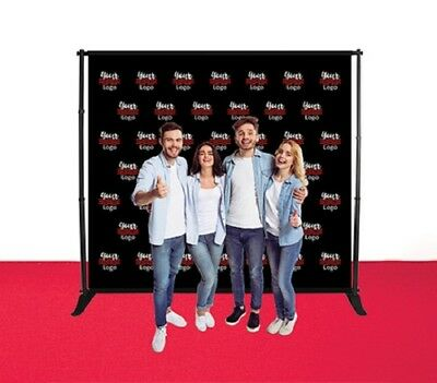 9'X8' Step&Repeat Adjustable Stand Telescopic Double Side Fabric Banner Backdrop