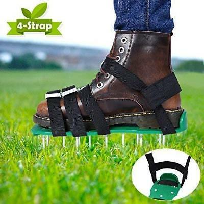 Upgraded Lawn Aerator Shoes, 2018 All 4X Adjustable Aluminium Alloy Buckles...