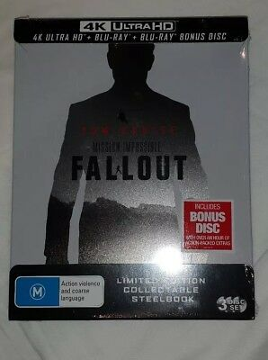 Mission impossible Fallout 4k Steelbook (3 Disc Set) Brand New and Sealed