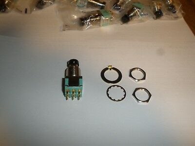 Alco MPG206R Push Button Switch Black MPG 206R DPDT On Momentary Alcoswitch