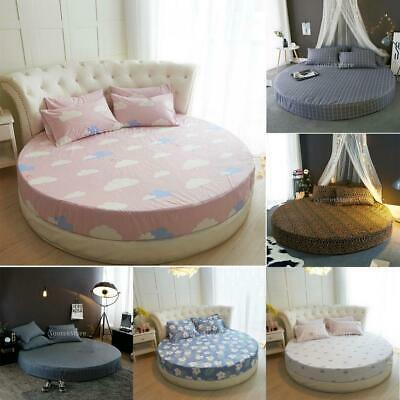 100% Cotton Round Fitted Sheet Cover Round Sheet Bedding Accessories 220cm