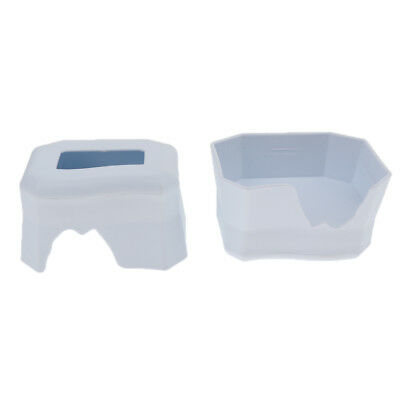 2 Pack 2 in 1 Reptile Shelter Hiding Cave Bowl For Gecko Lizard