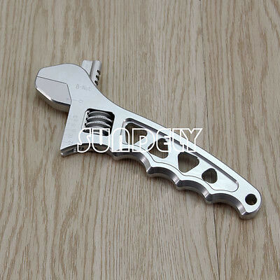 Hi-Q 3AN-12AN Adjustable Aluminum AN Wrench Hose Fitting Tool Spanner Silver