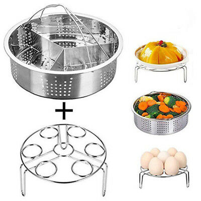 Steamer Basket Rack Set With Removeable Dividers For Instant Pot Accessories S1