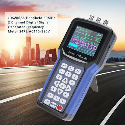 JDS2062A Handheld 30MHz 2 Ch Digital Signal Generator Frequency Meter S4R2 MB