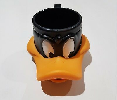 DAFFY DUCK 1992 Looney Tunes Warner Brothers Collectable Plastic Mug Cup VTG