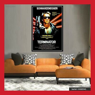 TOILE AFFICHE CINEMA MOVIE SORTIE FILM POSTER PHOTO TERMINATOR 1 DVD 40x60 60x80