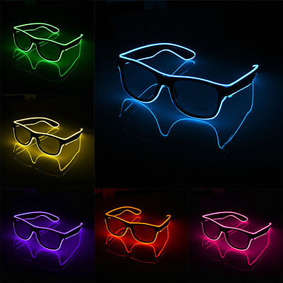UK Wire LED Glasses Light Up Flashing Blink Sunglasses Eyewear Shades for Party
