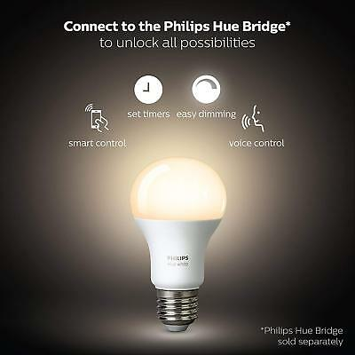 Philips Hue White A19 Wi-Fi Smart LED Bulbs - 4 Pack 60W Equivalent Dimmable