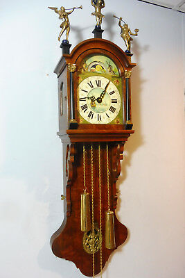 Old Dutch Wall Clock Warmink Wuba Clock Vintage Nutwood Clock