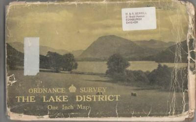 Ordnance Survey The Lake District One Inch Map :