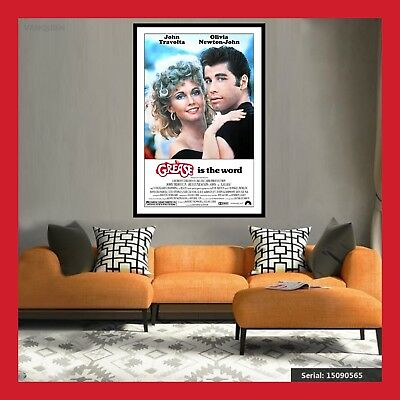 TOILE AFFICHE US CINEMA MOVIE SORTIE FILM POSTER PHOTO IMAGES GREASE 40x60 60x80