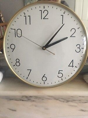 Made.Com Disley Wall Clock in Polished Brass *NEW* RRP £32