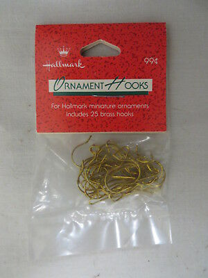1988 Hallmark Brass Miniature Ornament Hooks (25) New In Package Qxm 576-1