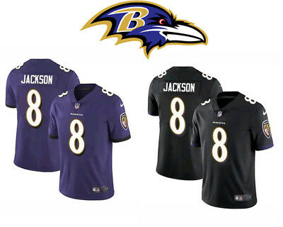 buy popular 664c9 6977d NEW LAMAR JACKSON #8 stitched Baltimore Ravens jersey black purple 2019 40%  OFF