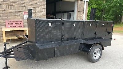 Shish Kebob BBQ Smoker 60 Grill Trailer Food Truck Mobile Catering Restaurant