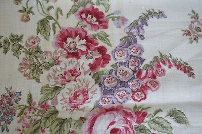 """G.P. & J. BAKER LTD Fabric ABBOTSWOOD Printed in England 2 yards 16"""" Biscuit"""