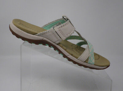 61b8fb8a84f Merrell Ivory Plumeria Leather Q Form Thong Sandals Slip on Shoes Women s  Size 8
