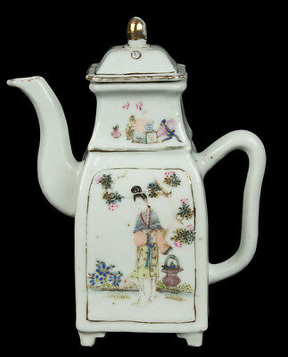 China 19. Jh. Tongzhi Teekanne -A Chinese Famille Rose Teapot - Chinois Cinese