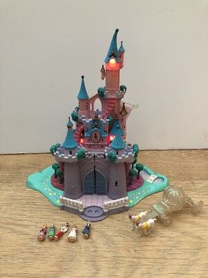 Polly Pockets Disney Cinderella Castle With 5 Figures And Carriage Bluebird 1995