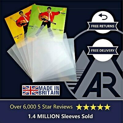 """50 7"""" Inch 450g Plastic Polythene Record Sleeves - 45RPM Outer Vinyl Covers"""