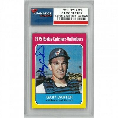 2001 Topps Archives GARY CARTER RC AUTO Rookie Reprint Autograph SP SSP Graded