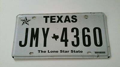 plaque d'immatriculation Texas Us JMY 4360 Usa license plate