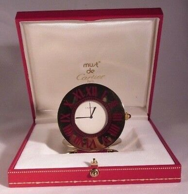 Cartier Vintager Collectable Travel Desk Clock,Perfect movement