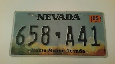 plaque d'immatriculation Névada Us 658 A41 Usa license plate