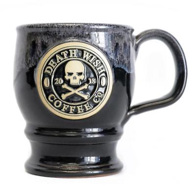 NEW! DEATH WISH COFFEE CERAMIC MUG OFFICIAL LOGO 2018 Deneen Pottery Tankard Cup